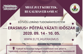 Elindult az Erasmus+ hallgatói pályázás a 2020/21-es tanév tavaszi félévére!